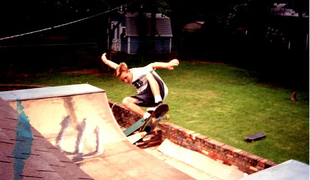 Storyteller John Durbin, as a skateboarding teen Texas. Photo courtesy of John.